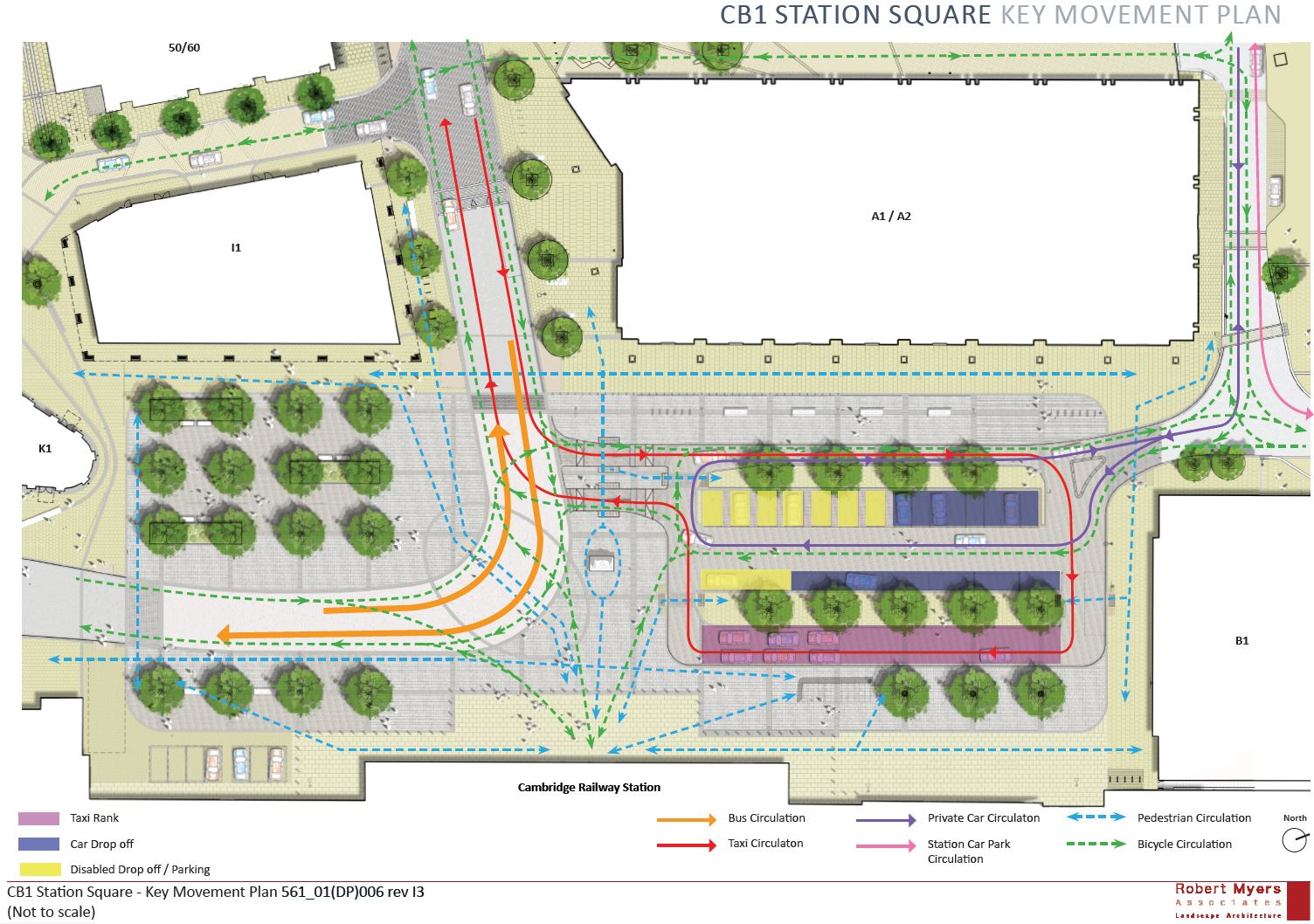 Station Square key movement plan
