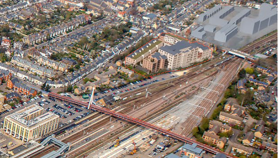 Devonshire Gardens aerial view